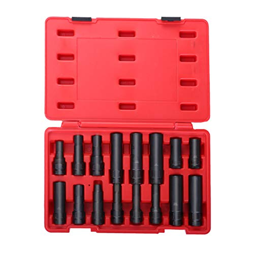 JAWM 16-Pc Locking Lug Nut Master Set Wheel Lock Key Removal Tool Kit (Best Way To Get Locking Wheel Nuts Off)