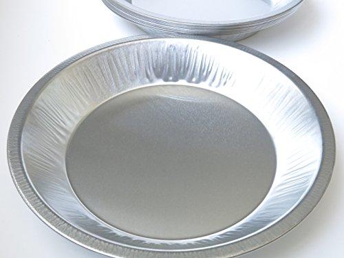Heavy Duty Reusable/ Disposable 9 1/2  inch Deep Aluminum Pie Pans- #510 (200)