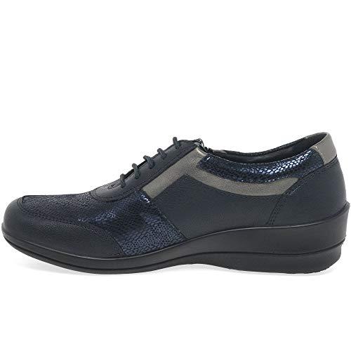 Multi Combi Kaiser Chaussures Wedge Casual De Navy Steffi Femme 2 Leather Peter Texture PTWCZ0Tg