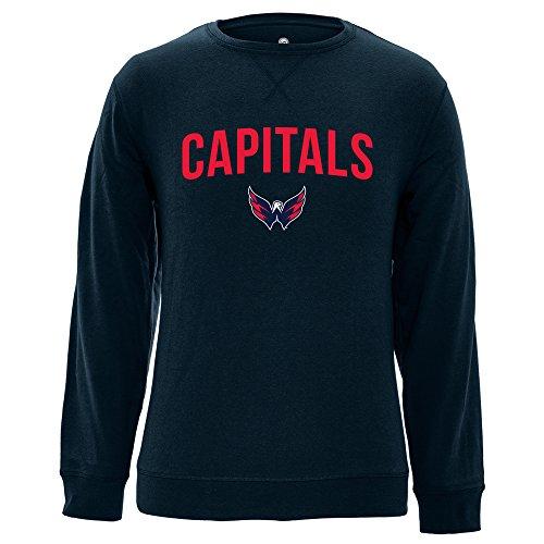 NHL Washington Capitals Adult Men City Crew OG Crewneck Sweatshirt, X-Large, Navy