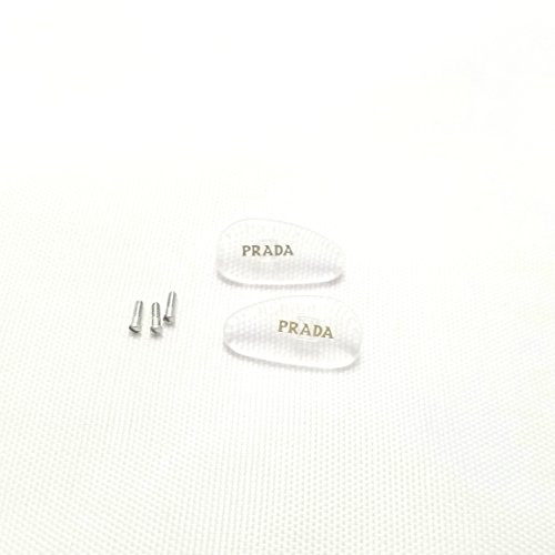 1 Pair PRADA Nose Pads Silicone Screw-in Nose Pads for ANY PRADA Eyeglasses/Sunglasses + 3 Screws - Sunglasses Pads Nose Prada