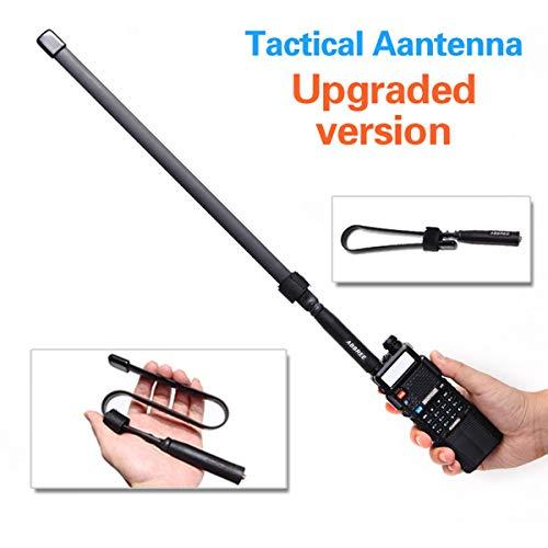 ABBREE Foldable CS Tactical SMA-Female Connector Dual Band VHF UHF 144/430Mhz Antenna for Baofeng UV-5R, UV-82, BF-F8HP, UV-5R V2+ Plus, BF-F9 V2+ Two Way Radio