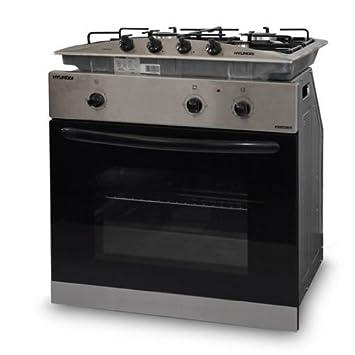 Hyundai forno elettrico con fornelli a gas set piano cottura ...