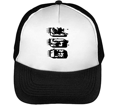 Lsd Black Fonted Graphic Gorras Hombre Snapback Beisbol Negro Blanco