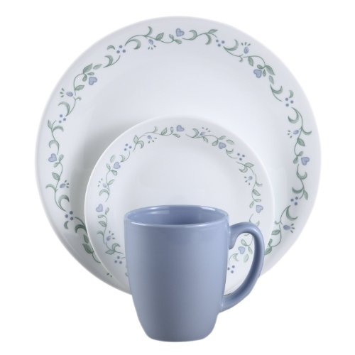 Corelle Livingware 16-Piece Country Cottage Design Dinnerware, with Service for 4, Features Chip and Break Resistant Glass, is Microwave, Oven and Dishwasher Safe, with Bold and Bright Patterns, Scratch and Fade Resistant, with Stackable Design for Easy Storage