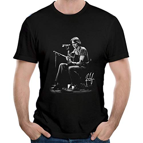 YBTX James T-Shirts Taylor Men's T-Shirts Short Sleeve Black