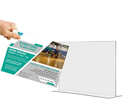 Marketing Holders Tabletop Sign Holder for Posters Advertisements Flyers Informational Sheet Signage Frames Countertop Lucite Picture Frame 17''W x 11''H Bottom Load Pack of 20 by Marketing Holders (Image #6)