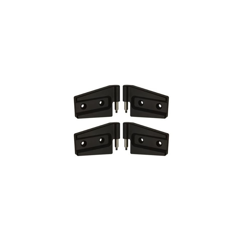 Jeep Wrangler Unlimited JK Black Powder Coated Billet Door Hinges 2 Door, Set. Fits 2007, 2008, 2009, 2010, 2011 and 2012.