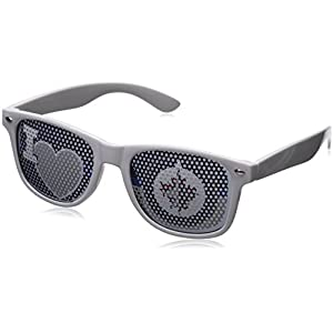 NHL Winnipeg Jets Adult I Heart Game Day Shades, White