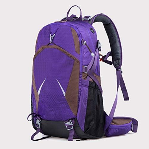 40Lアウトドアスポーツハイキングバックパック、 ナイロン布、 ロッククライミング/旅行、 男性と女性,Purple
