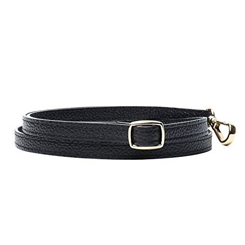 for Straps Purse slide Adjustable Handbags Adjustable Leather Replacement gold Straps Shoulder Lam Gallery Black Crossbody Hardware qHxzwFHB