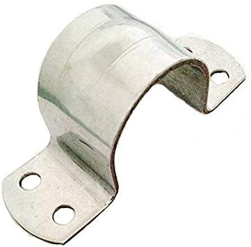 Anka Digital Abrazadera del mástil 42 mm de mástil de 4 Agujeros Acero galvanizado para mástil Tubos hasta 42 mm de diámetro Abrazadera de Tubo Sat ...