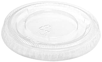 """IFN Green 25-1178-N Green Ease PLA Flat Lid, 3.16"""" Diameter x 0.32"""" Height, For 3.5, 4.5, 7 and 10 oz Cups (Case of 1000)"""