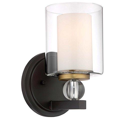 Minka Lavery Wall Sconce Lighting 3071-416 Studio 5 Wall Lamp Fixture, 1-Light 100 Watts, Painted Bronze