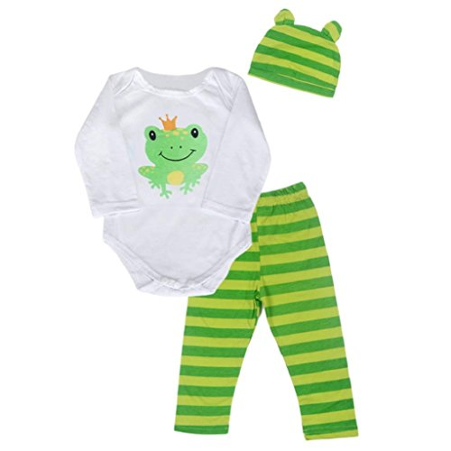 FEITONG Baby Kids Boys Girls Sets Three-Piece Unisex Climbing Clothes Infant Rompers