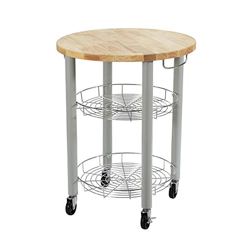 Kitchen Cart Round Butcher Block (Dorel Asia DA7840 Lulu Round Kitchen Cart)