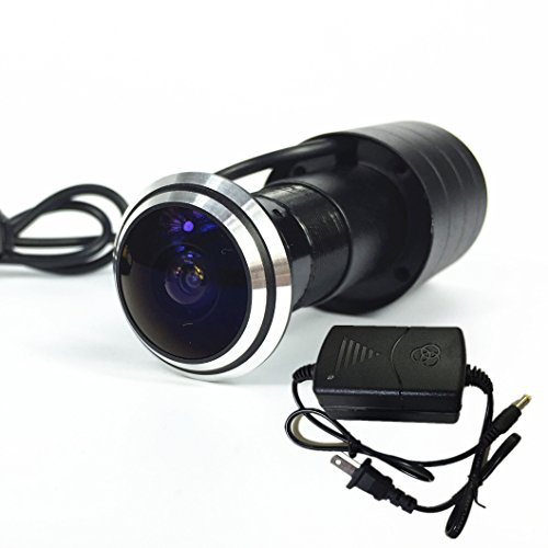 Shrxy 800TVL CCD Mini Door Eye Camera 170 Degree Wide Angle Fish Eye Lens CCTV Camera-NTSC