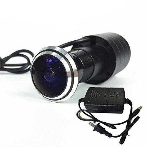 Shrxy 800TVL CCD Mini Door Eye Camera 170 Degree Wide Angle Fish Eye Lens CCTV Camera-NTSC ()