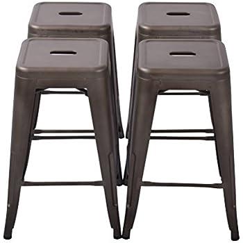Amazon Com Changjie Furniture 24 High Backless Metal