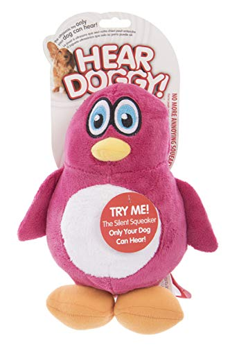 Hear Doggy Large Penguin Ultrasonic Silent Squeaker Dog Toy -