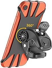 TEUMI Bike Phone Mount, 360° Rotatable Motorcycle Phone Mounts Bicycle Phone Holder, Universal Adjustable Sili