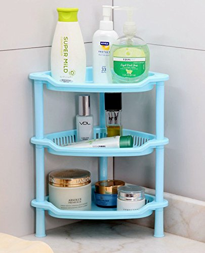 Pindia Mullti Color Multifunctional Detachable 3 Tier Plastic Bathroom Corner Kitchen Shelf Rack Storage Organizer Amazon In Home Kitchen