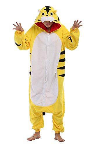 FS Unisex Adult Onesie Pajamas Tiger Animal Costume Sleepwear -