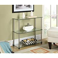 Glass Shelves Convenience Concepts Designs2go 3-shelf Glass Bookcase