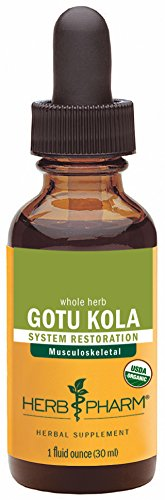 Herb Pharm Certified Organic Gotu Kola Extract for Musculoskeletal System Support - 1 Ounce