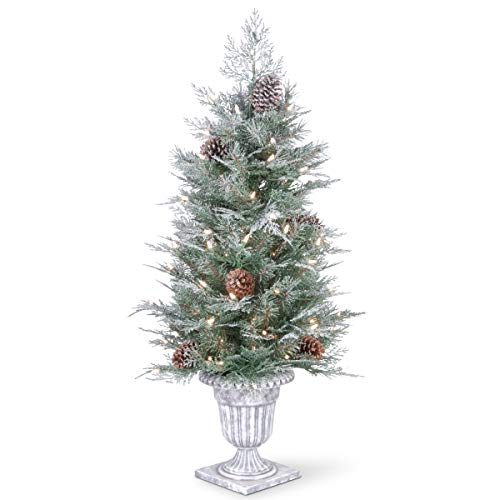 National Tree Snowy Bristle Berry Entrance Tree 4 Foot Green -  ADULT