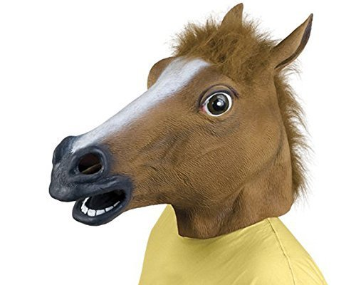 Queenshiny Latex Horse Head Mask (Horse Mask Child)