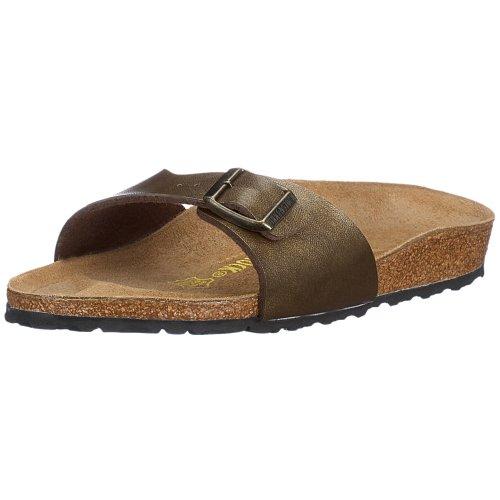 Birkenstock Sandals ''Madrid'' from Birko-Flor in Golden Brown 41.0 EU N