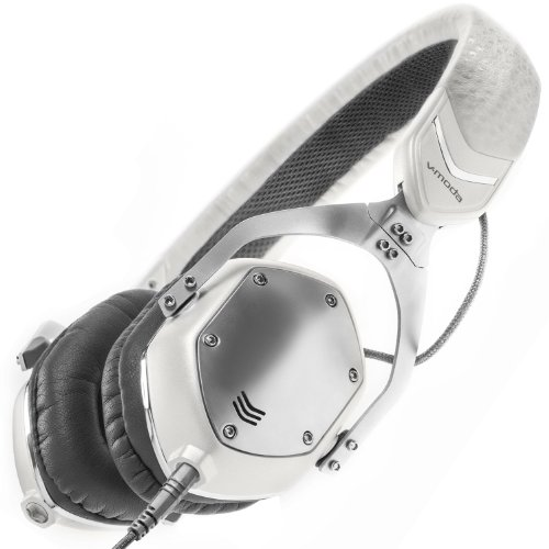 Silver Folding Headphone (V-MODA XS On-Ear Folding Design Noise-Isolating Metal Headphone (White Silver))