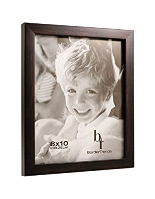 BorderTrends Echo 8x10-Inch Wall Photo Frames, Espresso Brown (4-Pack)