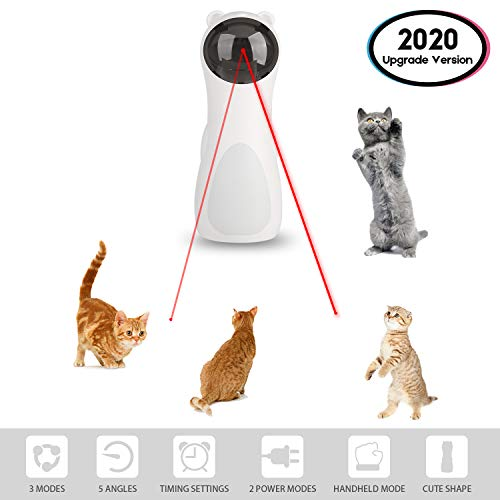 EliveSpm Cat Laser Toy-Automatic Rotating Lazer Pointer with 5 Stage Rotating Projection Angle and 3 Speed Modes, Interactive Chasing Toys for Cats&Dogs 2