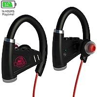 [NEWEST 2018] Bluetooth Headphones w/12-14 Hours Battery - Best Wireless Sport Earphones w/Mic - IPX7 Waterproof Music In-Ear Earbuds for Gym Running Workout Noise Cancelling for Men, Women