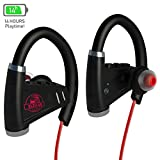 [NEWEST 2018] Bluetooth Headphones w/12-14 Hours Battery - Best Wireless Sport Earphones w/Mic - Waterproof HD Music In-Ear Earbuds for Gym Running Workout CVC Noise Cancelling for Men, Women
