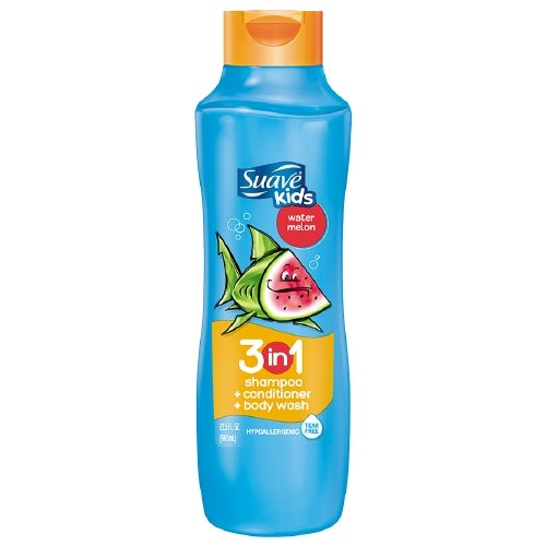 Suave 3-in-1 Shampoo Conditioner and Body Wash for Kids, Watermelon, 22.5 Fl Oz by Suave