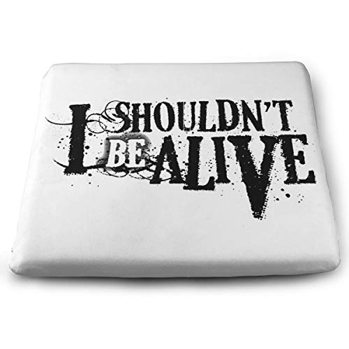 CHENXIAOBO I Shouldn't Be Alive Chair Pads Square Chair Cushion Soft Seat Pads Cushion Pillow for Office,Home Or Car Sitting