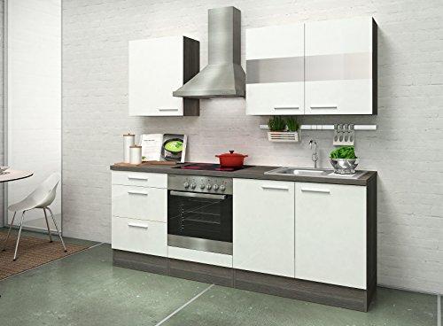 respekta Premium Instalación de Cocina Cocina 210 cm Roble ...