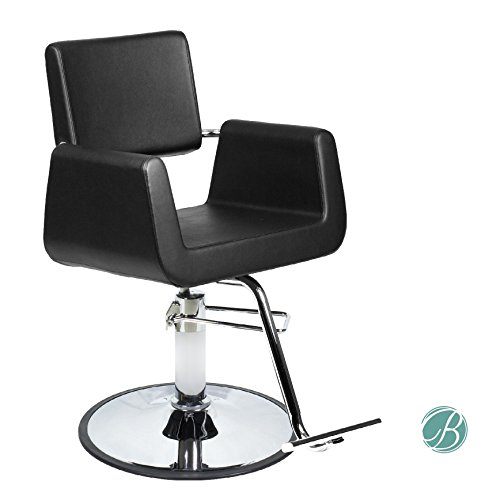 Beauty Salon Styling Chair ARON BLACK (A12) Square Wide Width Styling Chair Beauty Salon Furniture & - Black Aron