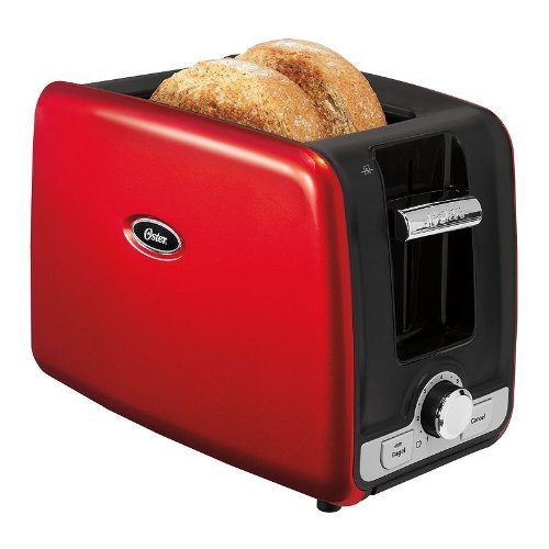 Oster 2-Slice Toaster with Retractable Cord-RED by Oster
