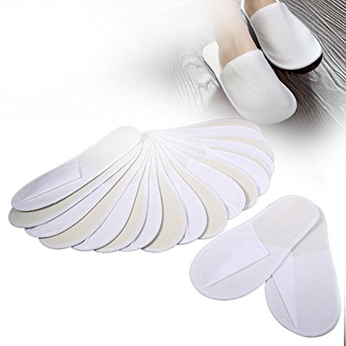 Disposable Slippers, 10 Pairs/Lot Disposable Guest Slippers Travel Hotel Slippers SPA Slipper Shoes Comfortable New for Men & Women, Perfect for Home, Hotel Or Commercial Bulk Use by Estink (Image #1)
