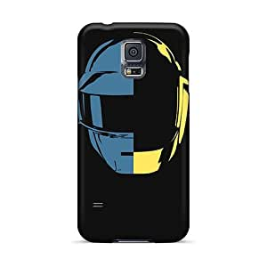 Shock-Absorbing Hard Cell-phone Cases For Samsung Galaxy S5 With Custom Beautiful Daft Punk Band Pattern AnnaDubois