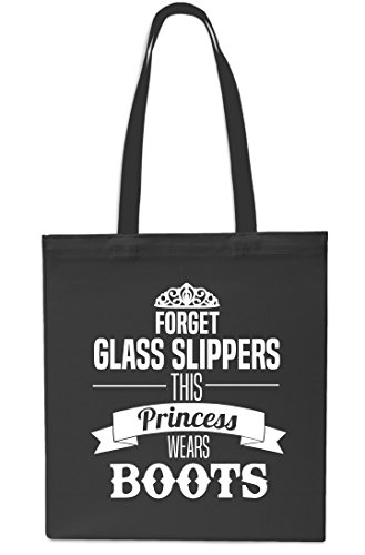42cm Forget Black Gym Black x38cm Beach Shopping Boots Bag Tote Glass litres Princess 10 Wears This Slippers PqwpHrPS