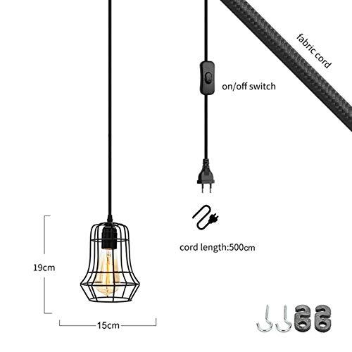 Le Style F Plug Ue 5151BuyWorld Lamp Longueur 500Cm Cage Moderne pendentif lumière Eu Plug-Fer Retro Loft Pyramide Lampe Suspension Lampe Suspendue En Métal E27 Intérieur Qualité Supérieure {Le Style F & Plug Ue}