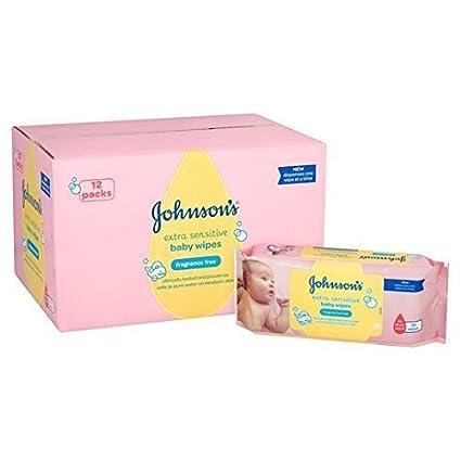 Bebé de Johnson extra Toallitas Sensible 12 x 56 por paquete