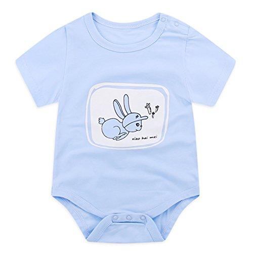 beb9a98bac0 Sunshine-G Newborn Kids Baby Romper Girl Boy Bodysuit Cotton Jumpsuit  Clothes Outfits 0-6month Blue Rabbit