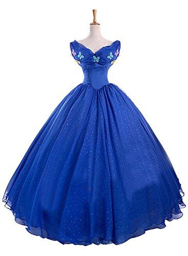 Ace Deluxe Adult Women's Cinderella Princess Costumes Dress Custom-made (S) (Custom Made Disney Princess Costumes)