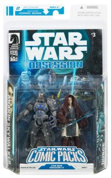 Star Wars Clone Wars Action Figure Comic 2-Pack Dark Horse: Obsession #3 Anakin Skywalker and Durge